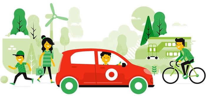 Greenwheels app: vind en huur een auto bij jou in de buurt
