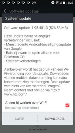 HTC 10 update 1.95.401.3