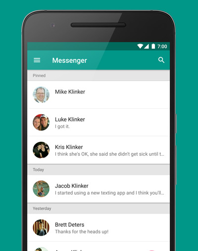 Messenger Klinker Apps