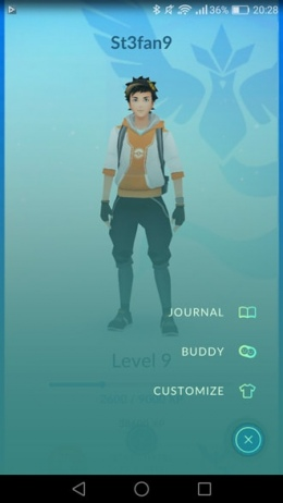 Pokémon GO 0.37 buddy