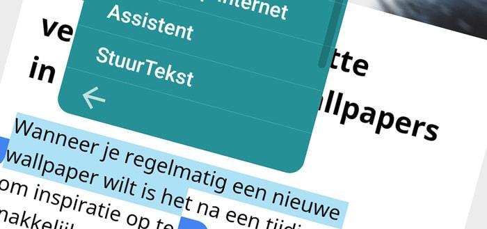 Send Text: deel snel geselecteerde tekst met iedere app