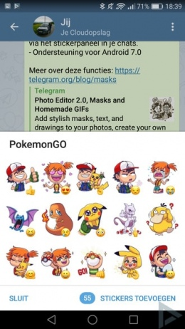 Telegram Pokémon Go stickers