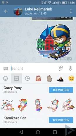 Telegram 3.12 stickers
