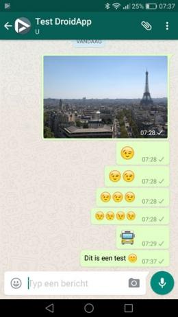 WhatsApp grote emoji