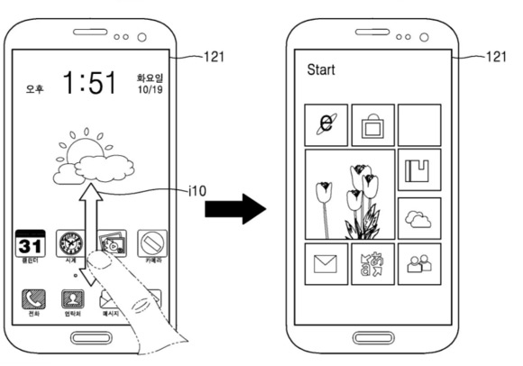 Samsung Windows Android patent