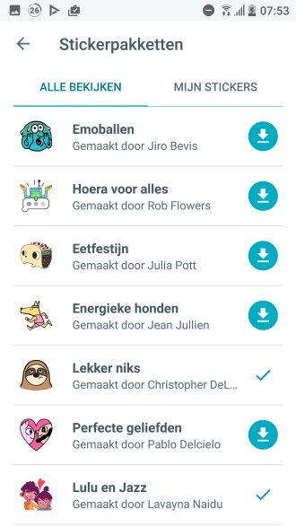 Google Allo Stickerpacks