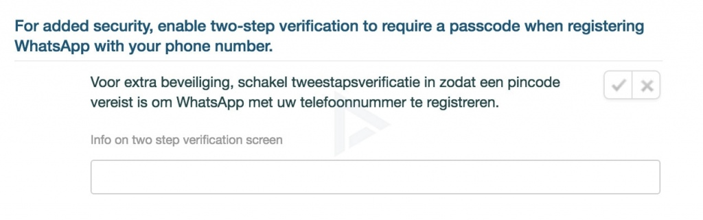 whatsapp tweestaps-authenticatie
