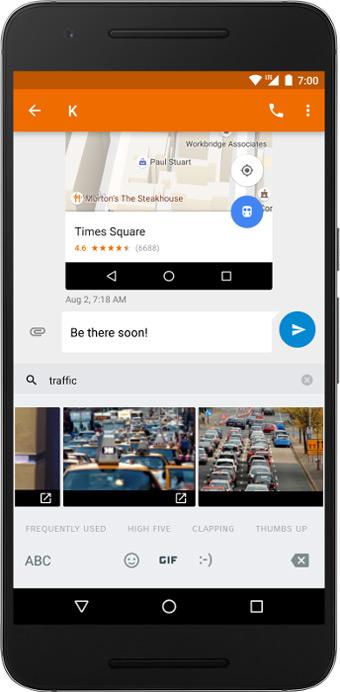 Android 7.1 Nougat Image Keyboard