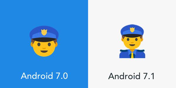 Android 7.1 Nougat emoji