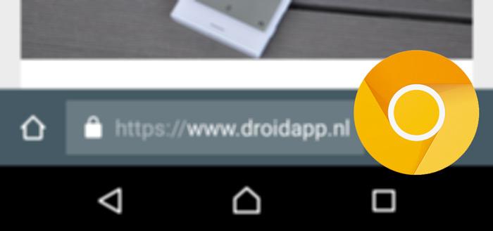 Krijgt Chrome voor Android voortaan de adresbalk onderin?
