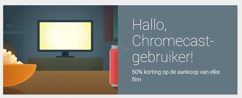 Chromecast korting film