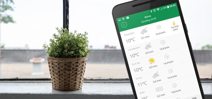 Climendo app bundelt verschillende weer-apps voor de beste voorspelling