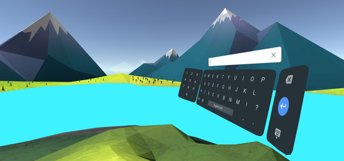 Google lanceert 'Daydream Keyboard' in Play Store: typen in virtual reality