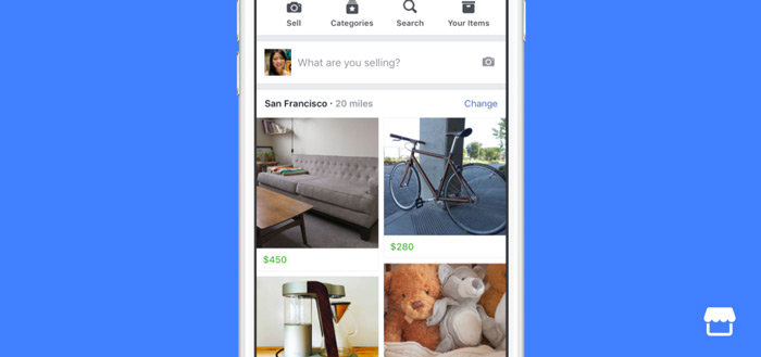 Facebook Marktplaats komt in augustus naar België en Nederland