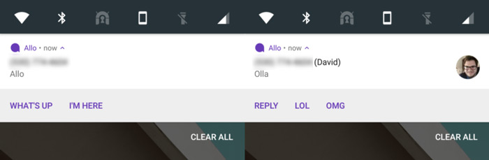 Google Allo 2.0 notificaties