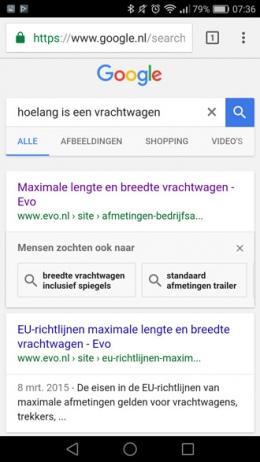 Google gerelateerde vragen