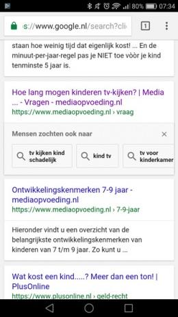 Google mensen zochten ook naar
