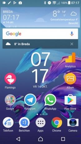 Google widget zoekbalk