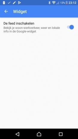 Google zoekbalk widget