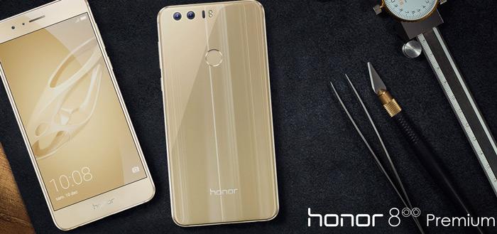 Honor lanceert gouden Honor 8 Premium