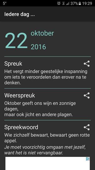 spreuken app Iedere Dag app: dagelijks inspirerende gezegden, spreuken en meer spreuken app