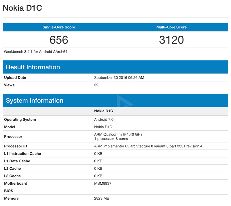 Nokia D1C benchmark