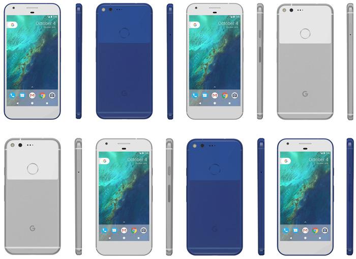 Pixel blauw