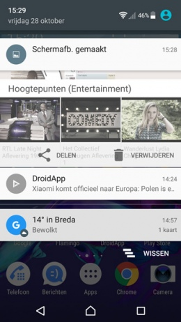 Sony Xperia screenshot maken
