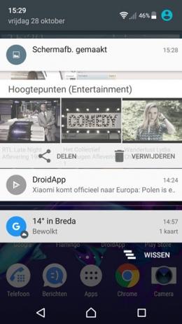 Sony Xperia screenshot maken