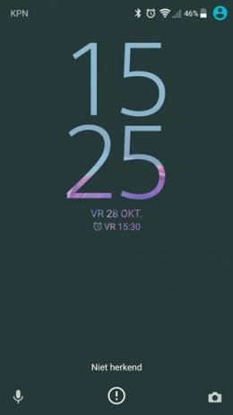 Sony Xperia lockscreen dubbeltik