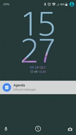 Sony Xperia Inhoud verborgen melding
