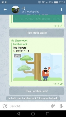 Telegram 3.13 games