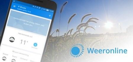 Weeronline app krijgt verbeterde weersvoorspelling met nieuwe zongrafiek