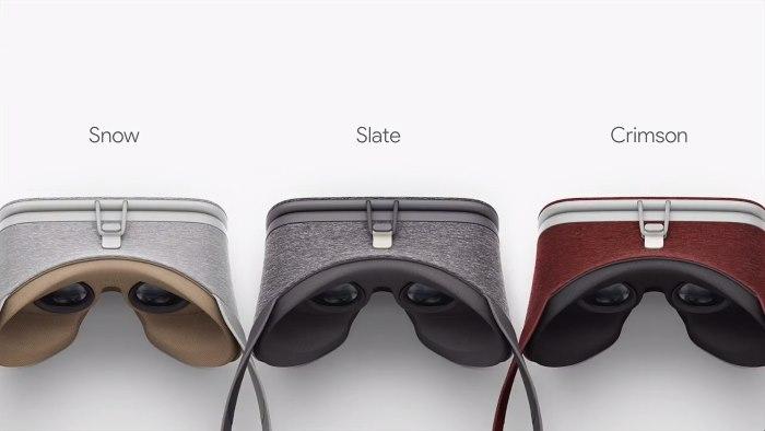 Daydream VR-headset kleuren
