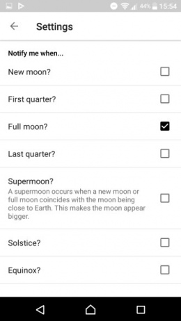 My Moon Phase notificaties