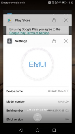 EMUI 5.0 multitasking