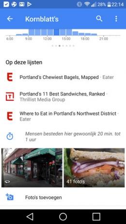 Google Maps 9.41 lijsten