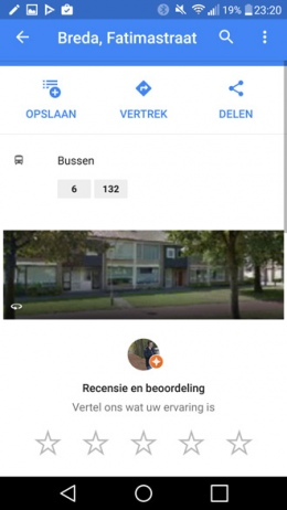 Google Maps bushalte