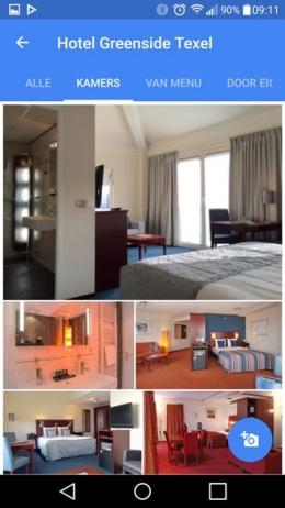 Google Maps hotelkamer foto's