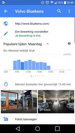 Google Maps tijdsbesteding