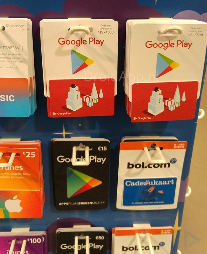 Google Play Gift Card variabel