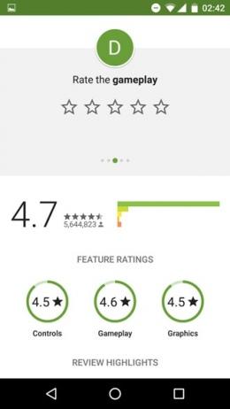 Google Play Store game beoordeling