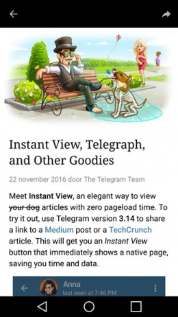 Telegram 3.14 Instant View