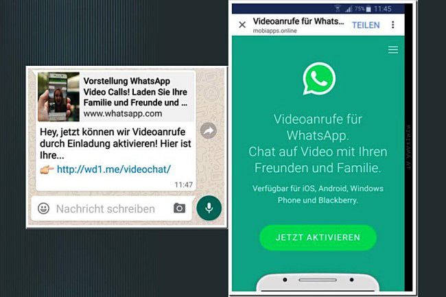 WhatsApp videocall scam