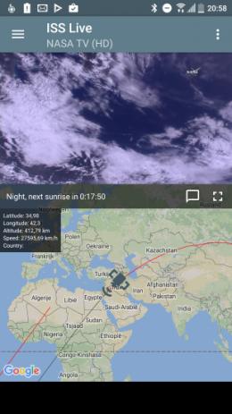 ISS Live de aarde bekijken