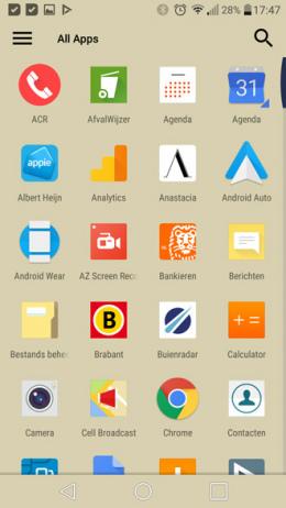 ADW Launcher 2 app-drawer menu