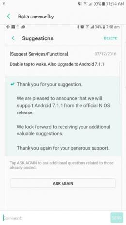Android 7.1.1 Nougat Samsung Galaxy S7 Edge