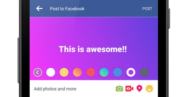 Facebook Kleuren Status