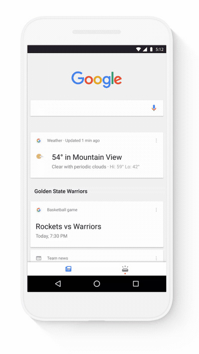 Google App upcoming