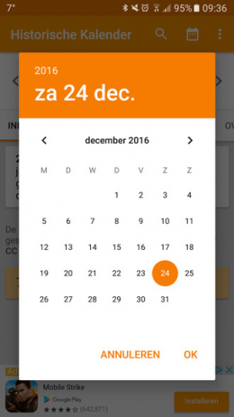 Historische Kalender app